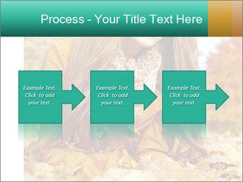 Woman on leafs PowerPoint Template - Slide 88