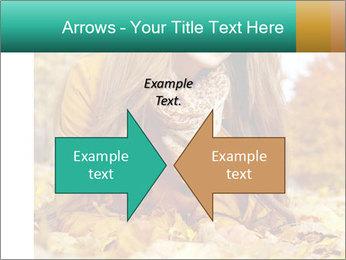 Woman on leafs PowerPoint Template - Slide 90