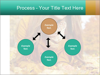 Woman on leafs PowerPoint Template - Slide 91