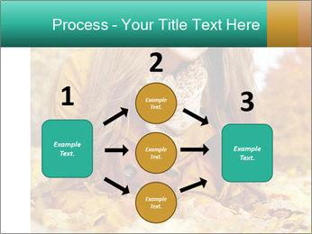Woman on leafs PowerPoint Template - Slide 92
