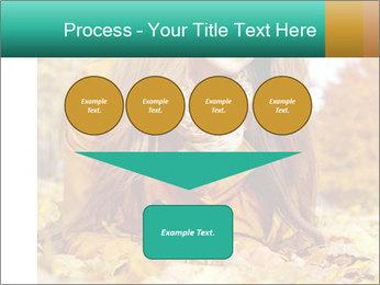 Woman on leafs PowerPoint Template - Slide 93