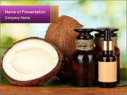 Coconut oil in bottles PowerPoint Template