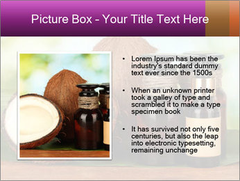 Coconut oil in bottles PowerPoint Template - Slide 13