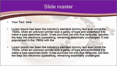 Coffee cup PowerPoint Template - Slide 2