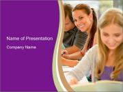 Teens study PowerPoint Template