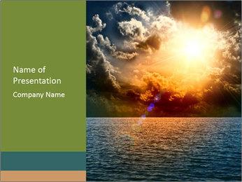 Yellow Sun Set PowerPoint Template - Slide 1