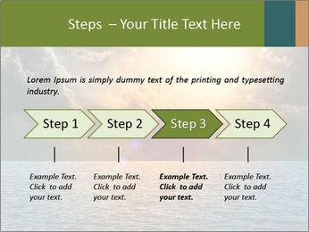 Yellow Sun Set PowerPoint Template - Slide 4