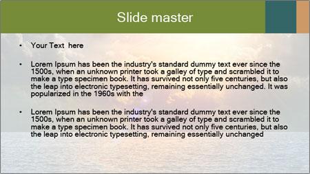 Yellow Sun Set PowerPoint Template - Slide 2