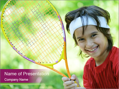 Kid playing PowerPoint Template