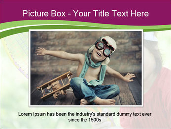Kid playing PowerPoint Template - Slide 16