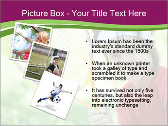 Kid playing PowerPoint Templates - Slide 17