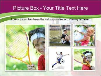 Kid playing PowerPoint Template - Slide 19