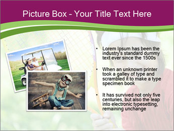 Kid playing PowerPoint Template - Slide 20