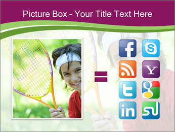 Kid playing PowerPoint Templates - Slide 21