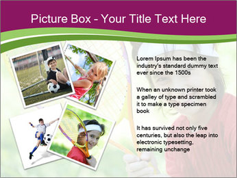 Kid playing PowerPoint Templates - Slide 23