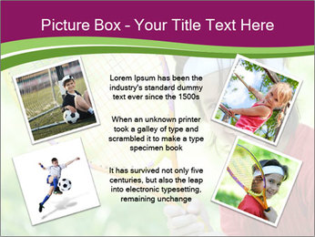 Kid playing PowerPoint Templates - Slide 24