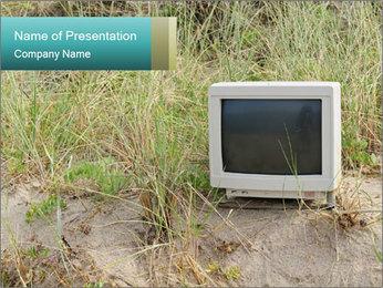 Computer screen PowerPoint Template - Slide 1