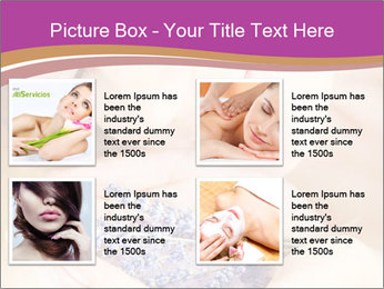 Girl smell  flowers PowerPoint Template - Slide 14