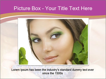 Girl smell  flowers PowerPoint Template - Slide 15