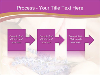 Girl smell  flowers PowerPoint Template - Slide 88