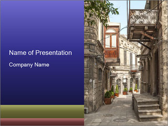 Architecture in Baku PowerPoint Template - Slide 1