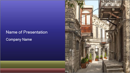 Architecture in Baku PowerPoint Template