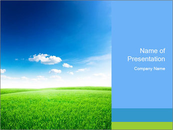 Green field PowerPoint Template - Slide 1