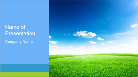 Green field PowerPoint Template