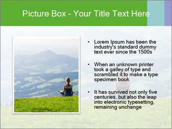 Woman meditating PowerPoint Template - Slide 13