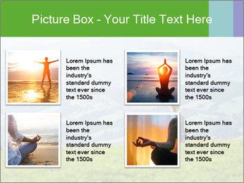 Woman meditating PowerPoint Templates - Slide 14