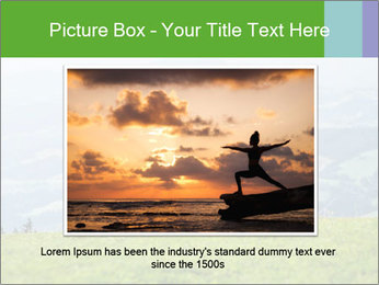 Woman meditating PowerPoint Template - Slide 16