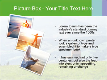 Woman meditating PowerPoint Template - Slide 17