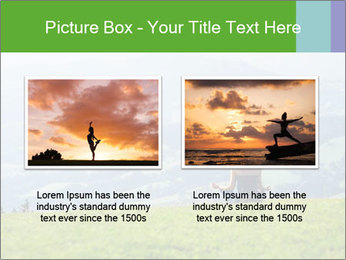 Woman meditating PowerPoint Template - Slide 18