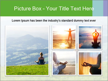 Woman meditating PowerPoint Template - Slide 19