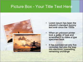 Woman meditating PowerPoint Template - Slide 20