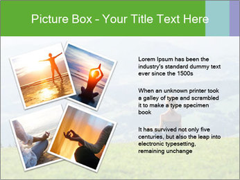 Woman meditating PowerPoint Template - Slide 23