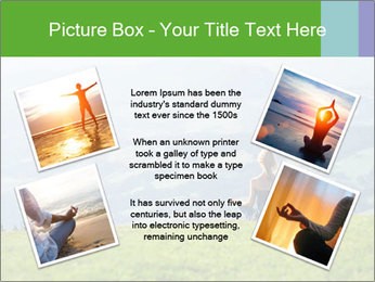 Woman meditating PowerPoint Template - Slide 24