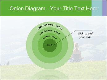 Woman meditating PowerPoint Templates - Slide 61