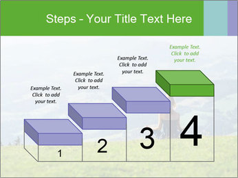 Woman meditating PowerPoint Templates - Slide 64