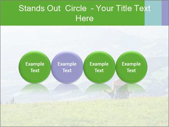 Woman meditating PowerPoint Templates - Slide 76