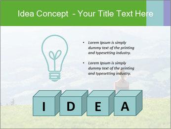 Woman meditating PowerPoint Templates - Slide 80