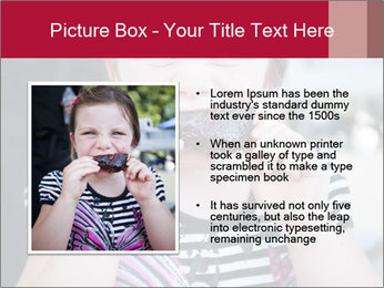 Girl chewing on a BBQ PowerPoint Templates - Slide 13