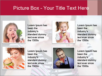 Girl chewing on a BBQ PowerPoint Templates - Slide 14