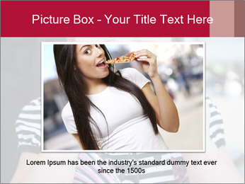 Girl chewing on a BBQ PowerPoint Templates - Slide 16