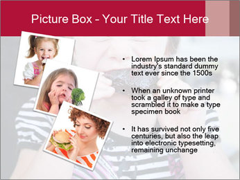 Girl chewing on a BBQ PowerPoint Templates - Slide 17