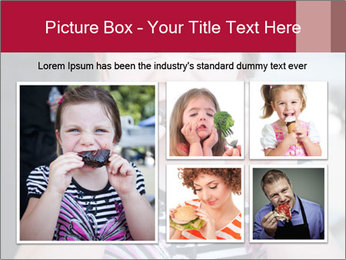Girl chewing on a BBQ PowerPoint Templates - Slide 19