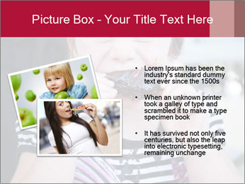 Girl chewing on a BBQ PowerPoint Templates - Slide 20