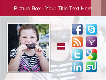Girl chewing on a BBQ PowerPoint Templates - Slide 21