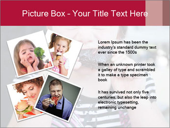 Girl chewing on a BBQ PowerPoint Templates - Slide 23