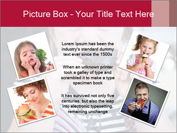 Girl chewing on a BBQ PowerPoint Templates - Slide 24